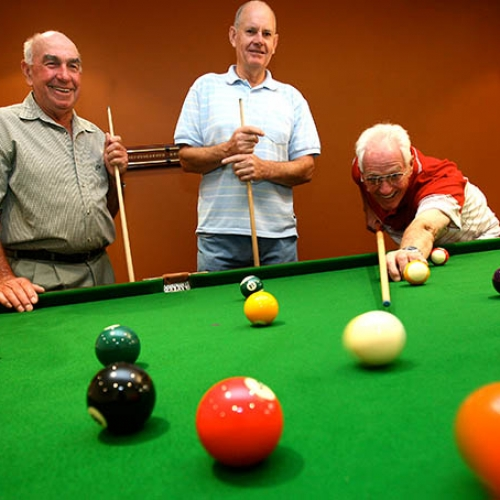 Playing pool - Princes Court Elderly Homes & Village Mildura